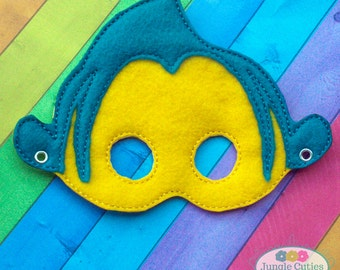 Flounder Fish Mask (M030), Toddler's Mask for Dress-Up, Party Favors