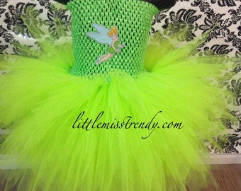 Tinkerbell Halloween Costume, Tinkerbell Tutu Dress, Fairy Costume, Fairy Tutu Dress, Tinkerbell Tutu Costume, Tinkerbell, Halloween Costume