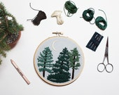 OCTOBER PINES PATTERN - Pdf Embroidery Pattern - Forest Embroidery Pattern by Sarah K. Benning - #skbdiy