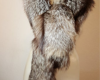 FREE  SHIPPING  Vintage Fox Fur Wrap