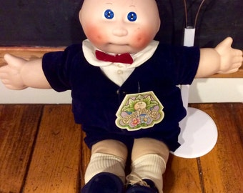 "1984 Porcelain Cabbage Patch Doll ""Jeffrey Nicholas"" &Stand by Applause, Porcelain Cabbage Patch Preemie, Porcelain CPK, Cabbage Patch Kids"