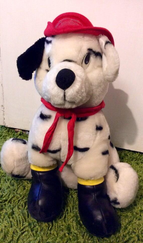 Vintage Plush Firefighter Dalmatian Dog Dalmatian Stuffed
