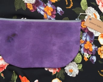 Purple Zipper Pouch//Hand-Dyed