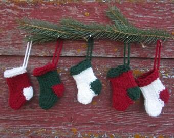 Mini Knit Stocking Christmas Tree Ornament