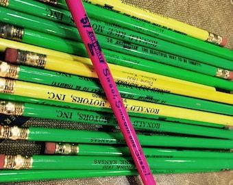 Vintage '58 Chevy Ronald Rice Motors of Abilene, KS Advertising Pencils - Unsharpened