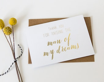 Gold Foil Card // Mother in Law Card