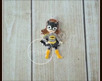 Batgirl Rhinestone Pendant, Hairbow Center, Bracelet Charm