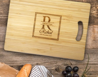 Personalised Chopping Board. Cutting Board Wedding Gift or Anniversary Gift.
