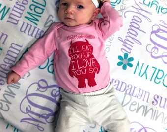 Personalized Baby Girl Blanket - Monogrammed Receiving Blanket - Custom Name Coming Home Baby Blanket - Newborn Hospital Swaddling Blanket