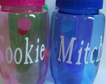 Personalized Water Bottle, 27 oz Custom Transparent KIDS Sports Bottle, Personalized Water Bottle or Plain /Blank item, BPA Free.