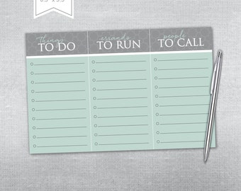 To Do notepad. Personalized notepad.