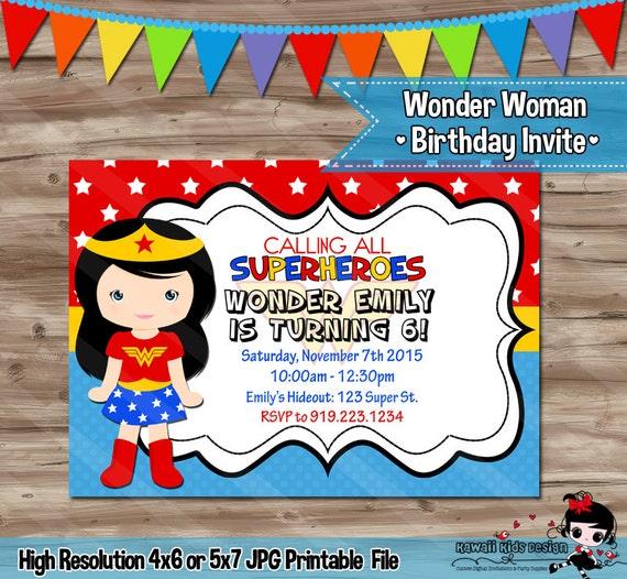 Wonder Woman Invitation Wonder Woman Invitation Wonder Woman