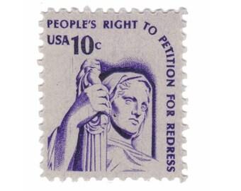 10 Unused Vintage Postage Stamps - 1977 Americana Issue - 10c Justice - Item No. 1592