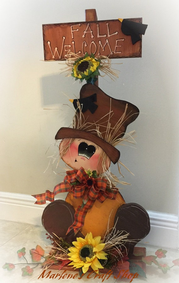 Fall Decoration Scarecroww Stand Sunflower Decoration