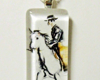 Horse pendant and chain - HGP02-010
