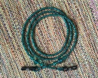 Eyeglass Necklace~Beaded Eyeglass Chain~Green Sunglass Necklace~Beaded Glass Eyewear Chain~Green Eyeglass Chain~ Sunglass Chain