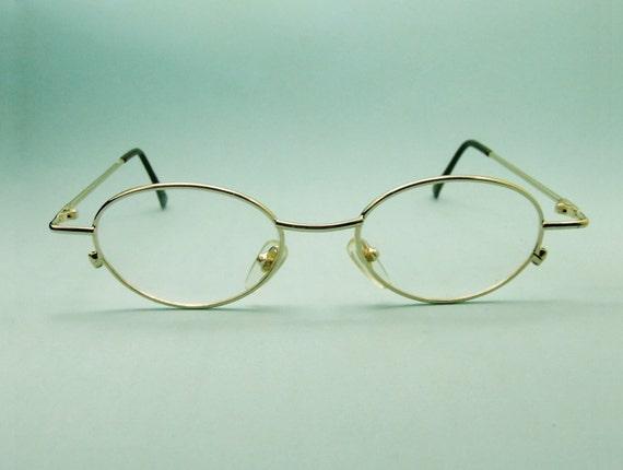 exclusive eyeglass frame oval shape metal size by vintartstore