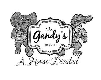 Gators House Divided Etsy