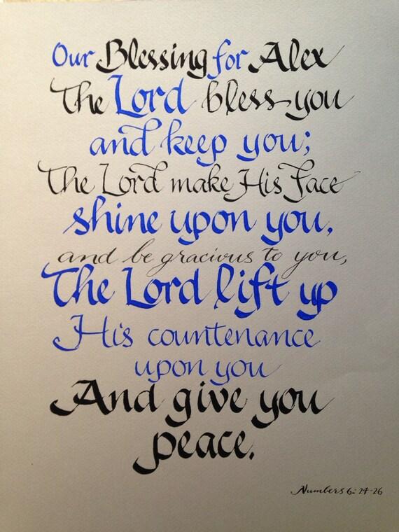 Custom calligraphy scripture wall art christian