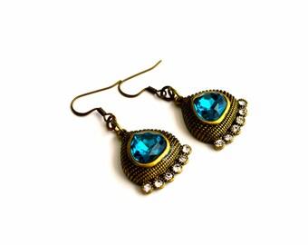 Bohemian Earrings. Boho Style Earrings. Oriental Earrings. Gipsy Earrings. Gift Idea For Her. Gift For Mom. Metal Earrings.