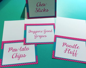 Place Cards, Labels & Tent Cards, Fully Customizable, Weddings, Birthdays, Baby Showers, Bridal Showers, Parties -Set of 12