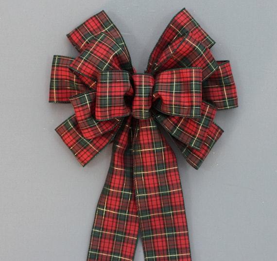 Items Similar To Tartan Plaid Christmas Bows Holiday