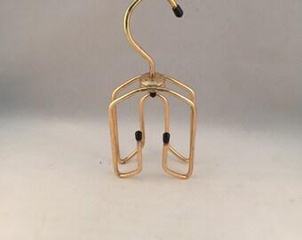 Vintage Gold Tone Metal Belt & Tie/Scarf Hanger