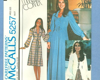 1976 Misses' Dress or Top, Marlo's Corner Design Size 12 - Vintage McCall's Sewing Pattern 5257