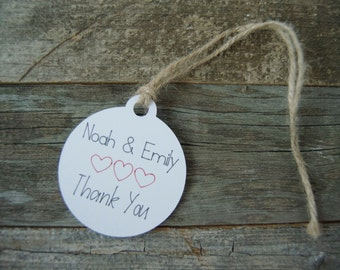 10 Personalized Thank You Gift Tags | Favor Tags | Rustic Tags | Wedding Tags | Shower Tags |