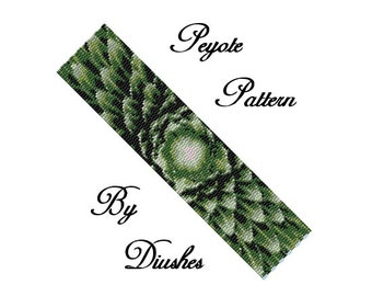Peyote Beading pattern Bracelet. Even count 3 drop peyote pattern. Seed bead pattern.Flower, beaded peyote pattern, beadwork, beadwoven