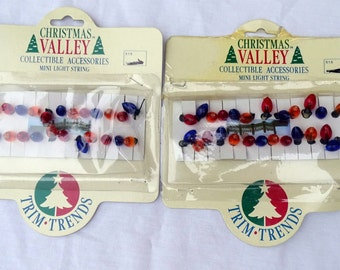 2 Christmas Valley Mini Light String FREE SHIPPING USA