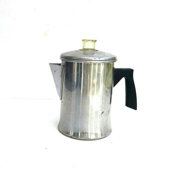 Vintage Coffee Pot Aluminum 5 Pot Coffee Percolator Stove Top