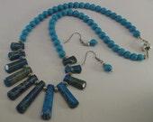 JASPER NECKLACE, blue, turquoise, The Sage Wreath, jewellery, jewelry, hand made, variscite Jasper, semi precious stones, gems