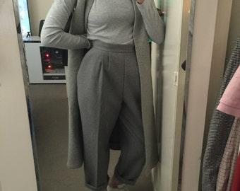 90s GREY MINIMAL sleeveless cape / small