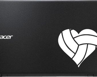 "5"" Volleyball Heart Vinyl Decal"