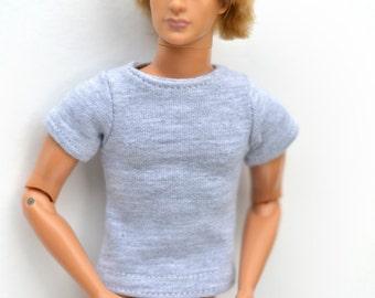T-shirt, Ken tshirt, Ken doll clothes, Ken T-shirt, short sleeved T-shirt