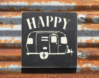 Happy Camper -Handmade Wood Sign