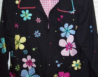 REDUCED TODAY  Anage Spring Fling Cotton Cutesome Jacket.  Size M  see details