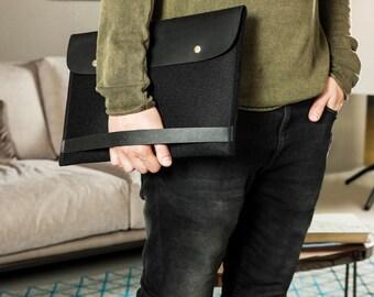 MacBook Pro case MacBook Pro 13 felt case MacBook Pro 13 black case MacBook Pro black leather cover Mac black felt case Laptop sleeve