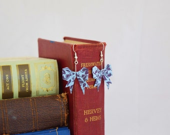 Origami Bow Earrings - Paper Art  - Paper Earrings