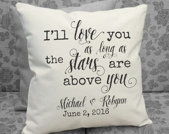 I'll Love You as Long as the Stars are Above You, Personalized Wedding Gift, Valentines Gift, Engagement Gift, 2nd Anniversary Gift SPS-112