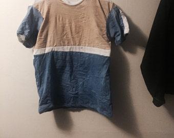 Blue/Tan Stripe T-Shirt