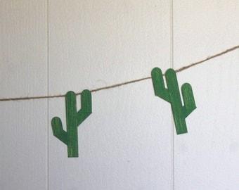 Saguaro Cactus Western Garland wall hanging Rodeo Sonoran desert Arizona cowboy cacti BBQ Wedding reception