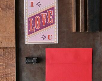 I Love U Card