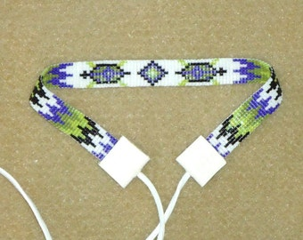 Beaded choker, turtle, seed bead choker, necklaces, loom choker, Native American inspired, tribal, southwestern, boho, hand made jewelry