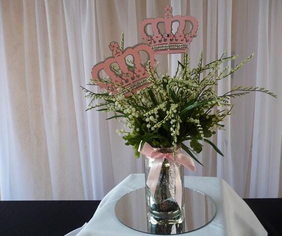 Royal princess centerpiece stick little light pink