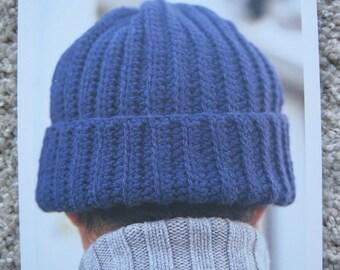 Crochet Pattern - Boyfriends Hat - Adult Size