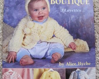 Crochet Pattern Book - Baby Boutique - American School of Needlework #1209 - Vintage 1995