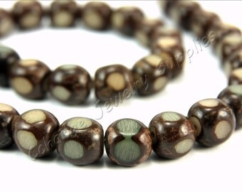 Buri Nut Beads, 5 pcs Buri Seed Beads, (12mm) Natural Buri Beads, Buri Palm Natural Beads, Buri Cube Beads, Nut Beads, Buri Beads