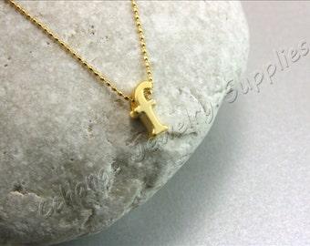 F Gold Letters, 2 pcs Gold Lowercase Letters, Matte Gold Alphabet Letter, 24K Gold Plated Letter, Lowercase Alphabet Letters, Gold Letters